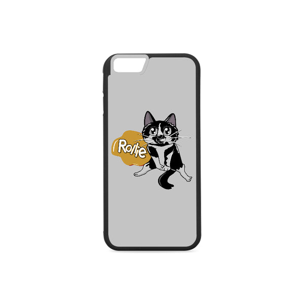Rollie Cat Various iPhone Cases Collections-Phone Case-One Size-Rollie Rubber Case for iPhone 6/6s-Kucicat