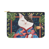 "Botanicat Pouch Collections-pouch-12.5""x8.5""-Japanese Princess Carry-All Pouch 12.5''x8.5''-Kucicat"