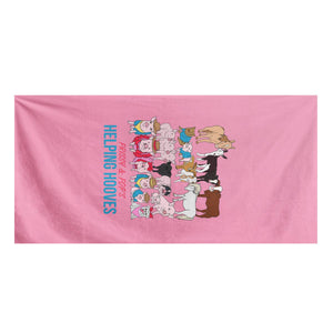Prissy & Pop's Helping Hooves Official Towel Bath Towel