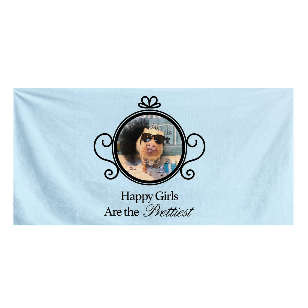 Prissy Pig Happy Girls Are The Prettiest Official Bath Towel