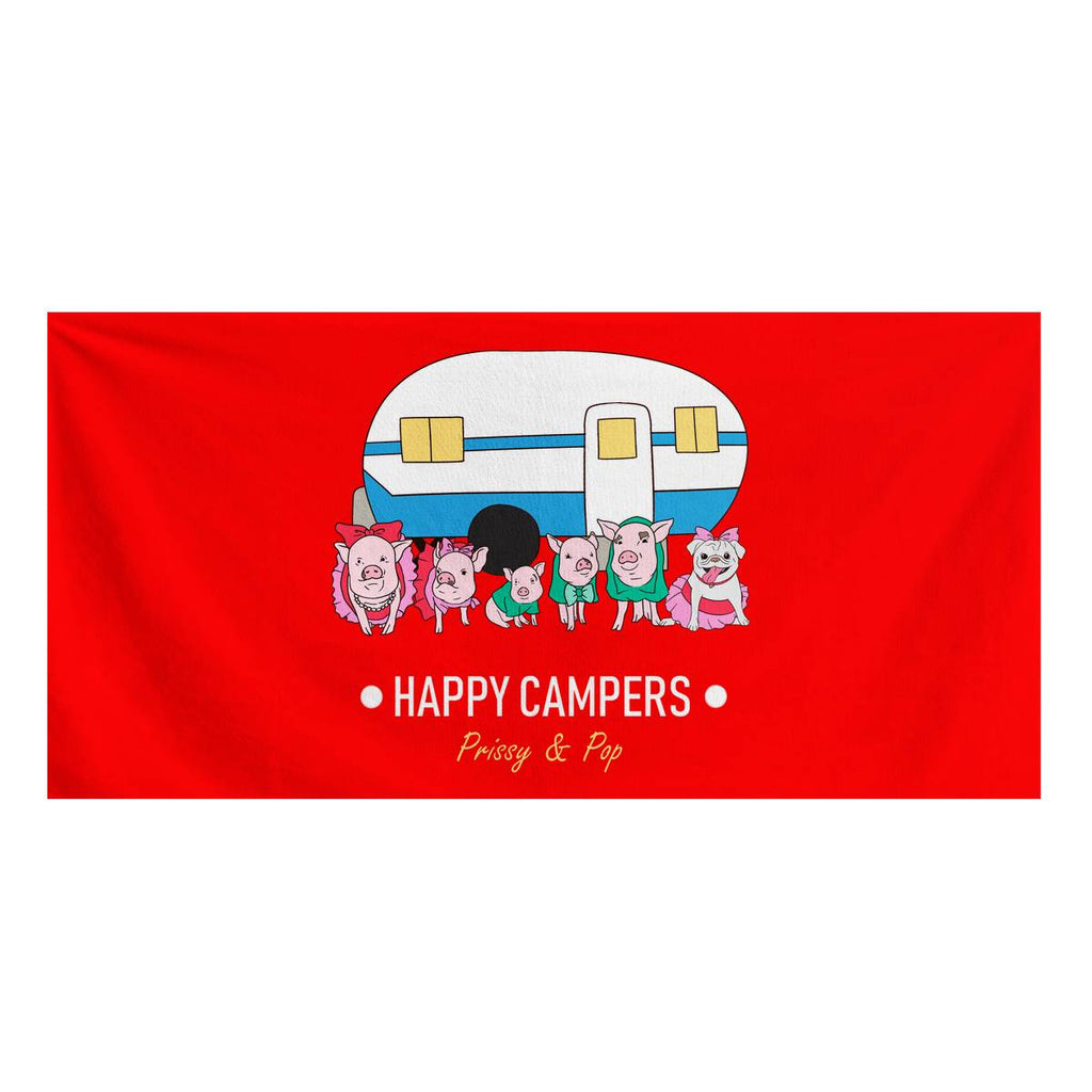 Prissy & Pop Happy Campers Official Bath Towel