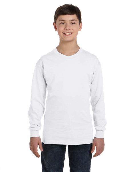 Knoet Cat Kids Long Sleeve T-shirt On The Shoes-T-shirt-White-Youth S-Kucicat