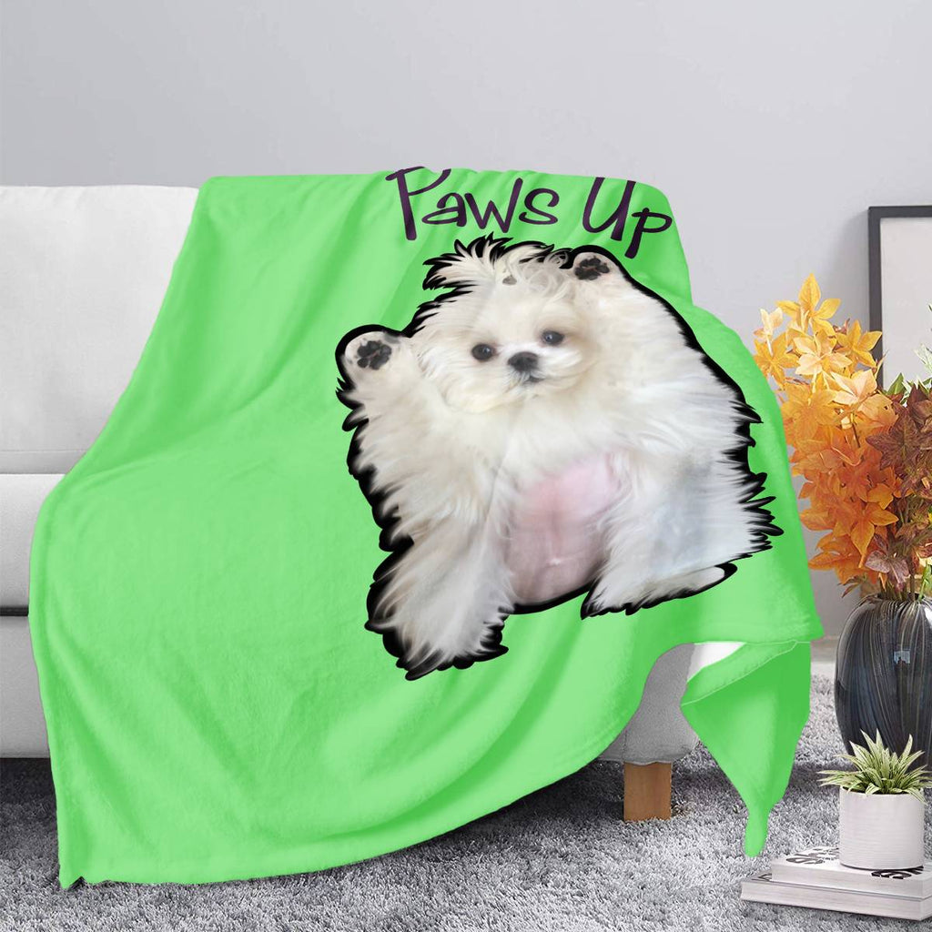 Coco The Maltese Dog Paws Up Official Blankets Blankets
