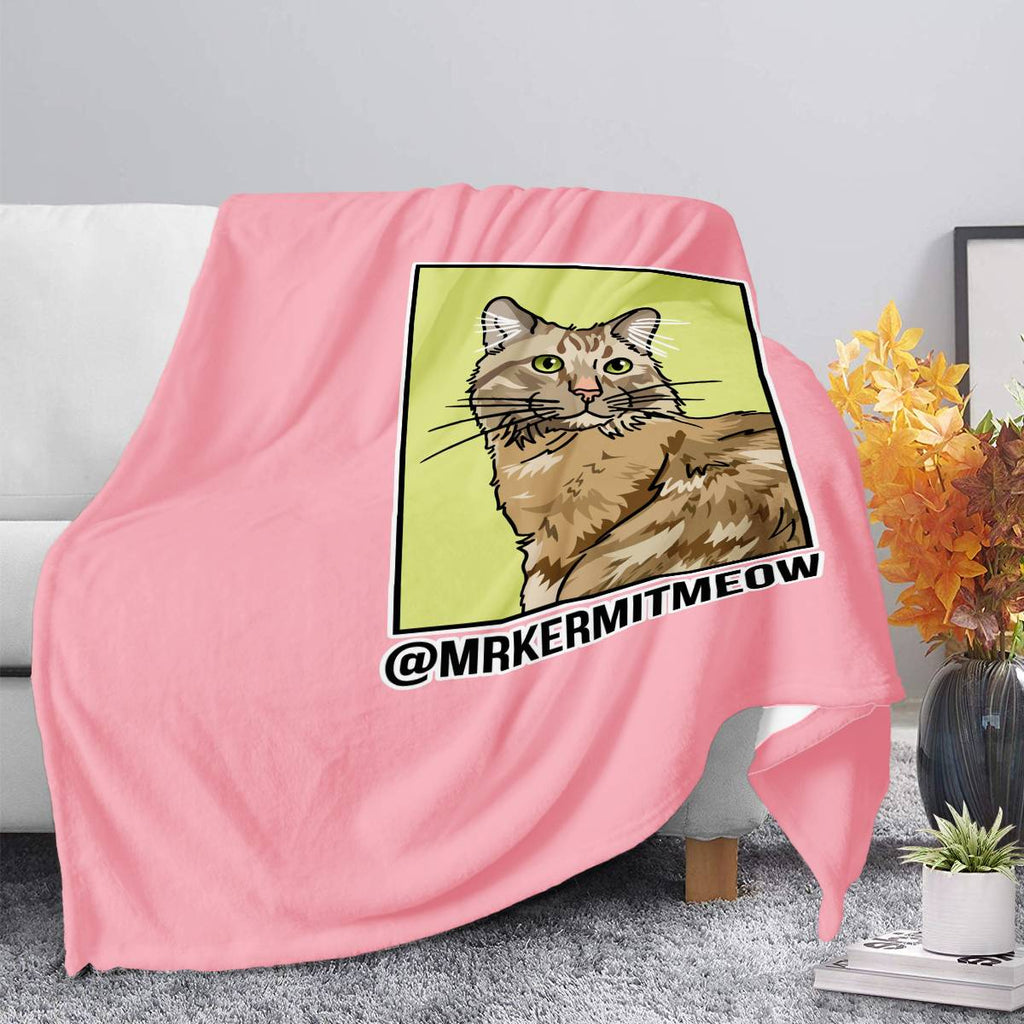 Mr. Kermit Meow Official Blankets
