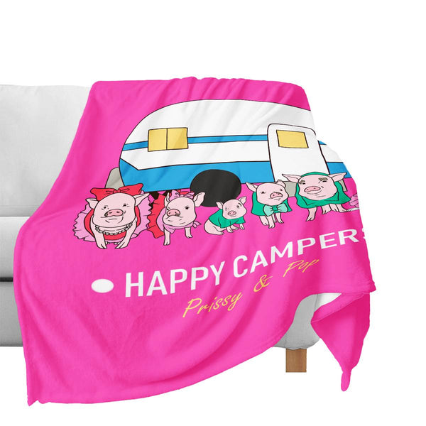 Prissy & Pop Happy Campers Official Blanket