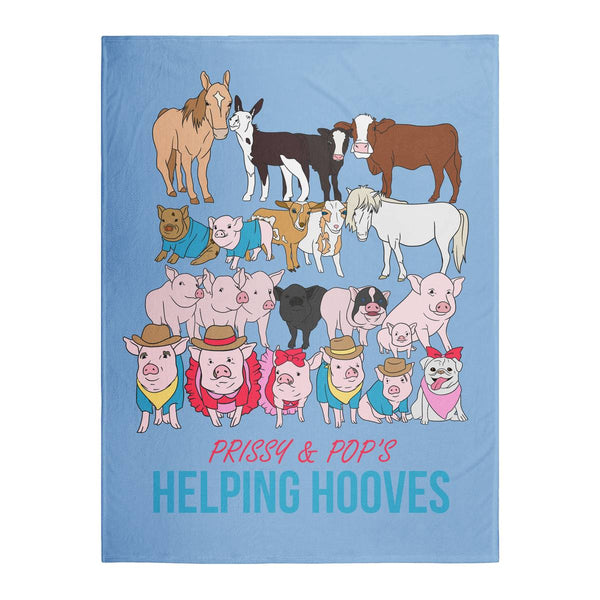 Prissy & Pop's Helping Hooves Official Blanket