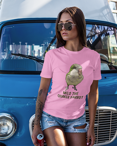 Milo The Quaker Parrot Ladies T-Shirt