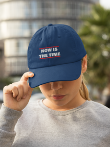 NOW IS THE TIME Originals Snapback Trucker Cap