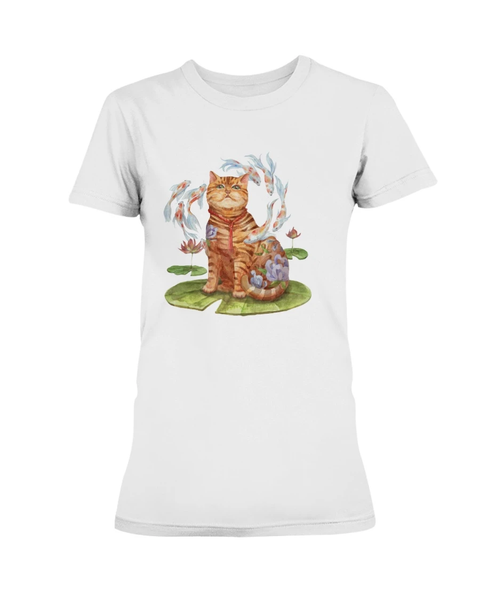 Watercatlor Zodicat Ladies T-Shirt Collections