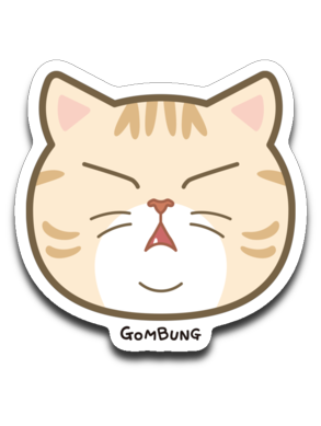 Face GomBung Sticker Decal