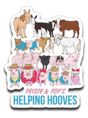 Prissy & Pop's Helping Hooves Official Decal Sticker Pack