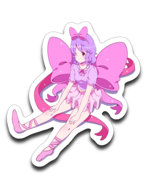 Cyan Illust Pink Ribbon Official Stickers