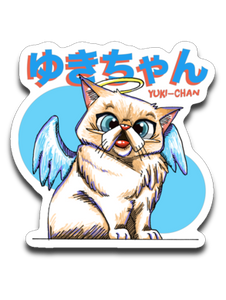 Tipperandco Persian Cat Sticker Tribute to Yuki-Chan Decals-T-shirt-Kucicat