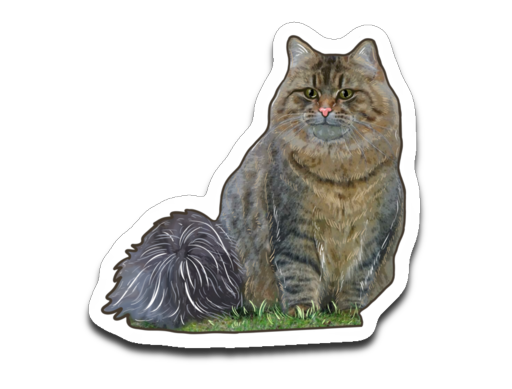 Netta The Siberian Fluffy Princess Official Decal Sticker Pack