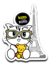 Kiki the Kind Cat - Be Kind to Every Kind Sticker Decall-Sticker-Kucicat