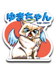 Tipperandco Cat Sticker Tribute to Yuki-Chan Decals-T-shirt-Kucicat
