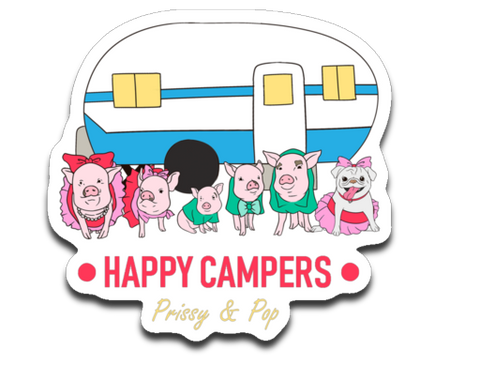 Prissy & Pop Happy Campers Decal Sticker Pack