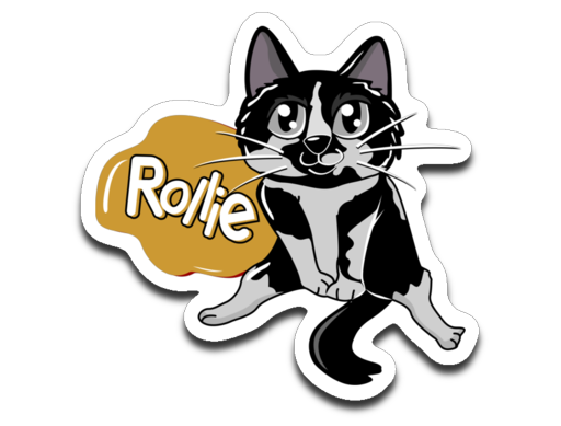 Rollie Cat Stickers-Sticker-Kucicat