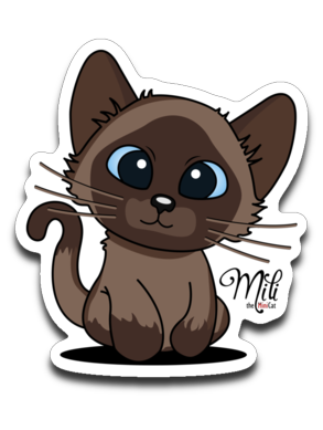 Cute Mili Sticker Decal (Only for USA Order)