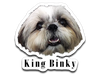King Bingky Cute Face Decal Sticker (Only for USA Order)