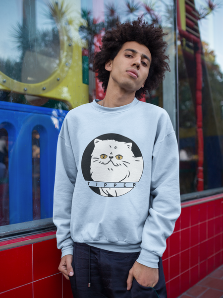Tipperandco Persian White Cat Unisex Sweatshirt S-2XL