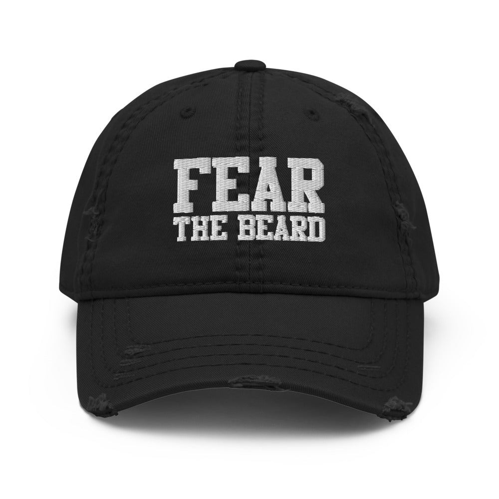 Fear The Beard Distressed Dad Hat