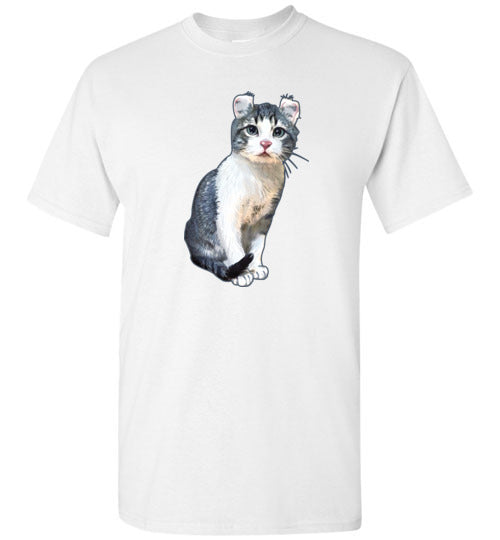 Curly Snow Cat Men's T-shirt-Vardise.com