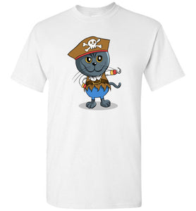 Knoet British Shorthair Men's T-shirt Pirates Cat S to 2XL-T-shirt-Kucicat