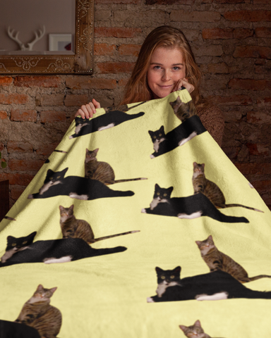 Kissy Kabu Official All Over Print Blankets