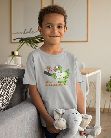 Milo Parrot Makin' Milo Pancakes Official Youth T-shirt
