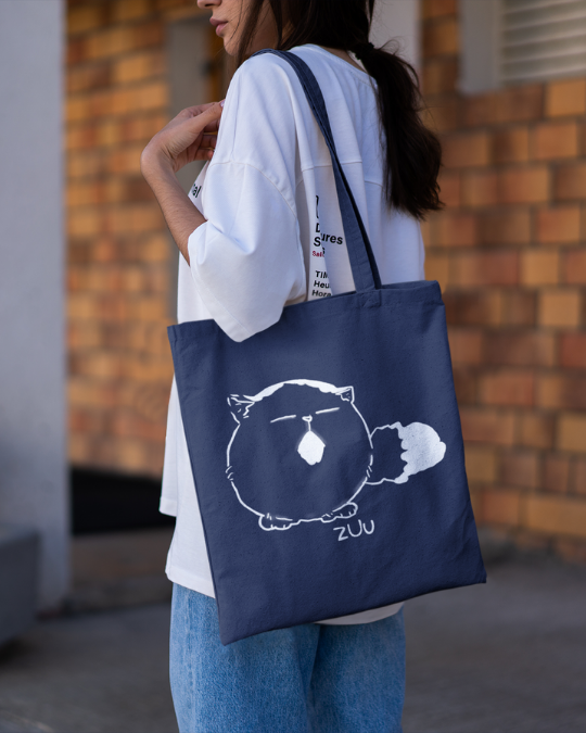 Pechanko Bocco Zuu Official Navy Canvas Tote Bag