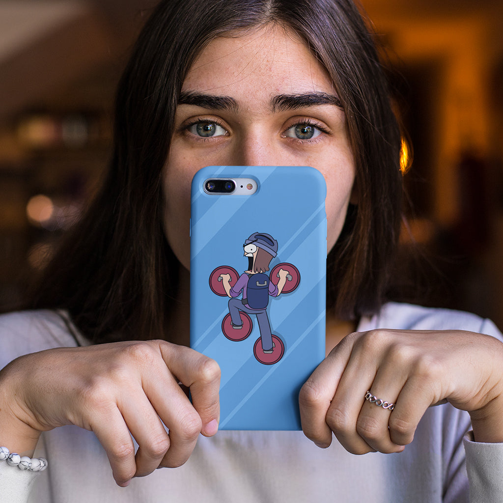 Suction Cup Man Window Phone Case