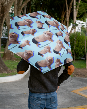 Prissy Pig All Over Foldable Umbrella
