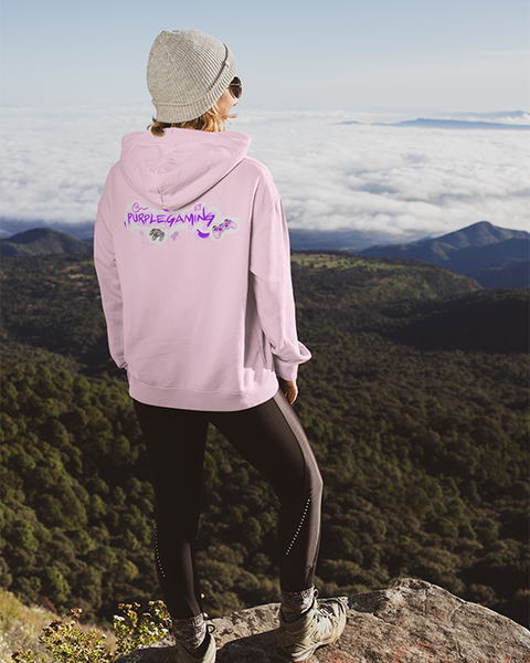 Purple Gaming Back Official Hoodie