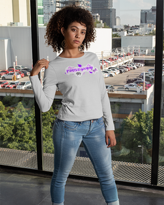Purple Gaming Front Official Long Sleeve T-Shirt