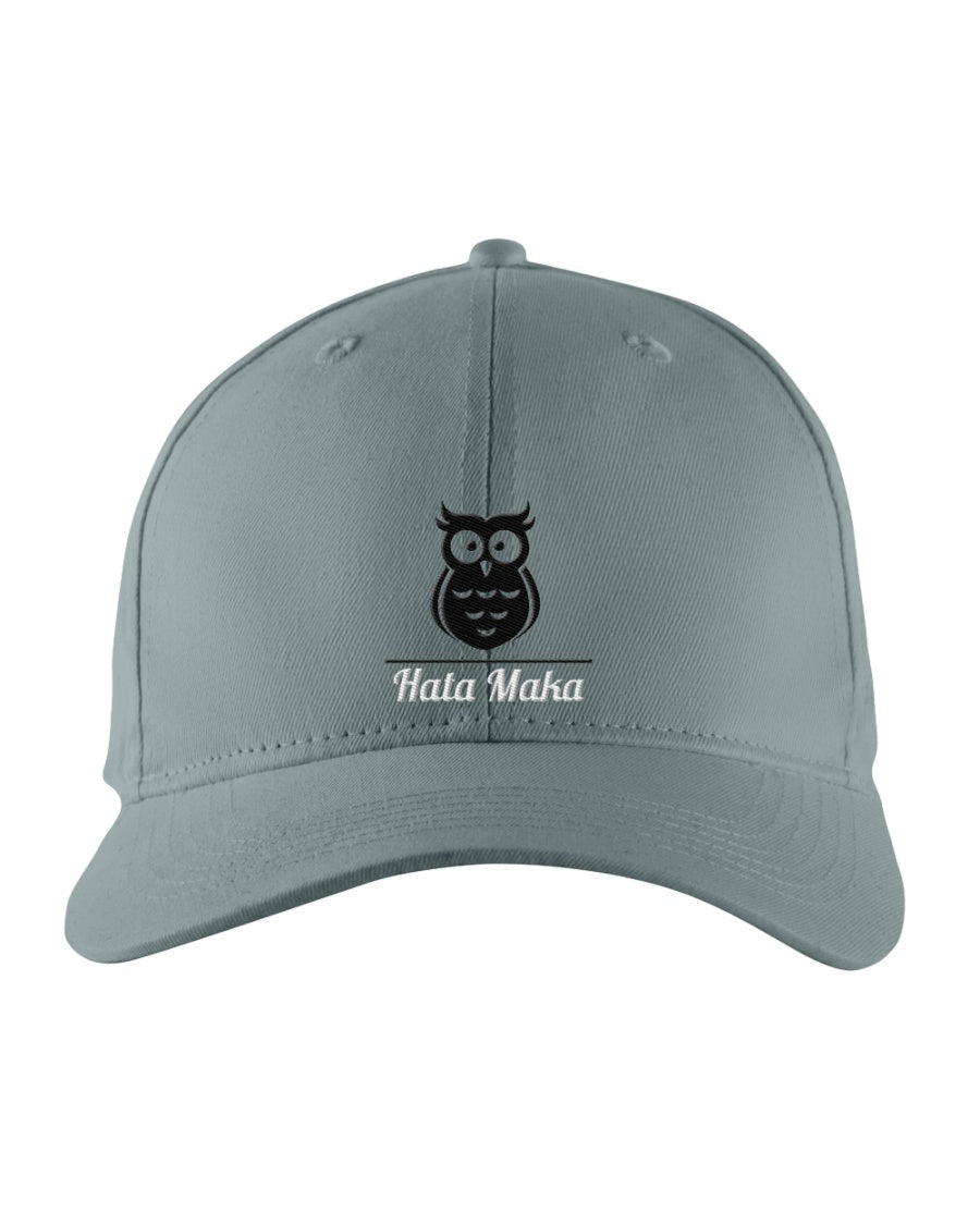 New Hata Maka Black Owl Official Gray Snapback Trucker Cap