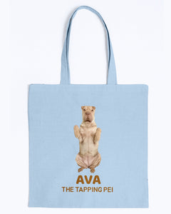 Ava The Tapping Pei Canvas Tote Bag-Kucicat