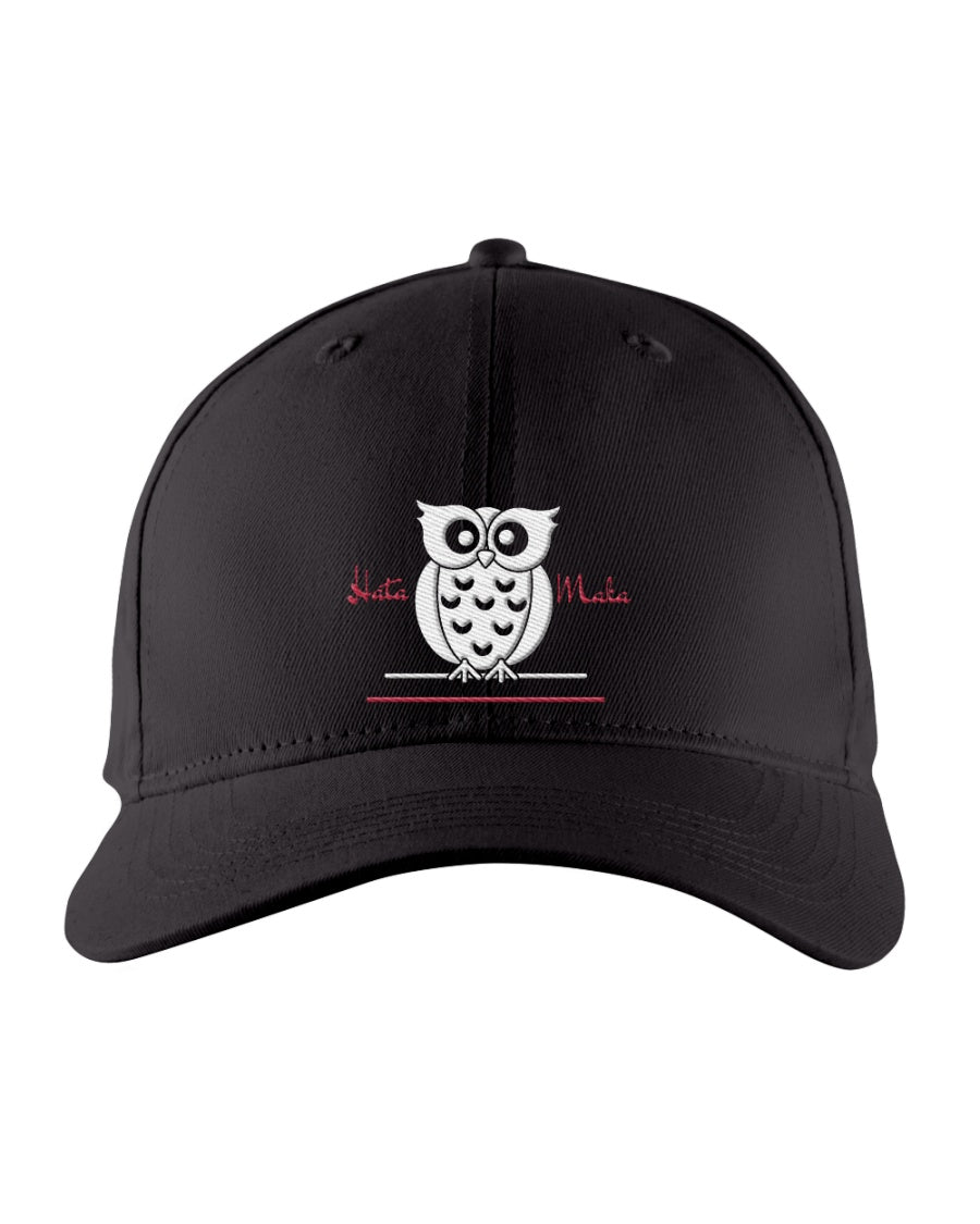 Hata Maka White Owl Official Black Snapback Trucker Cap