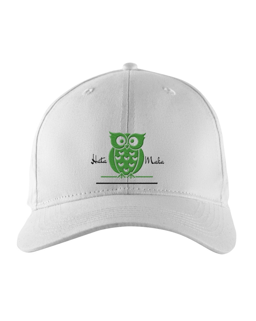 Hata Maka Green Owl Official White Snapback Trucker Cap
