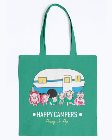 Prissy & Pop Happy Campers Canvas Tote Bag-Kucicat