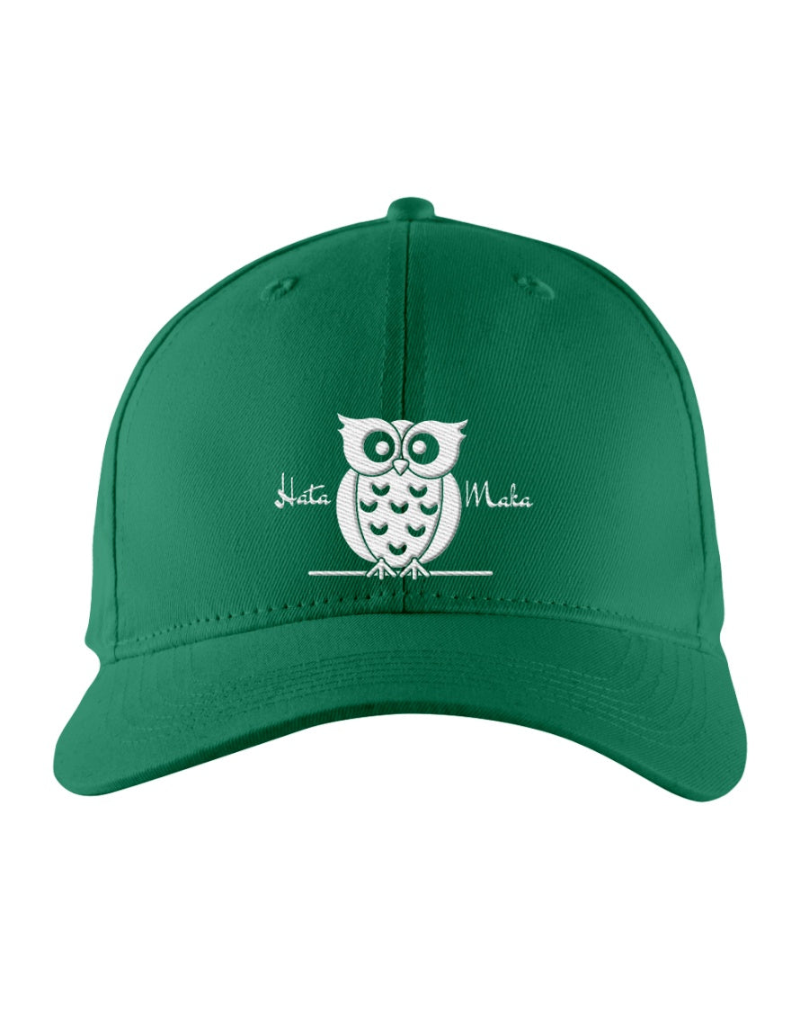 Hata Maka White Owl Official Green Snapback Trucker Cap