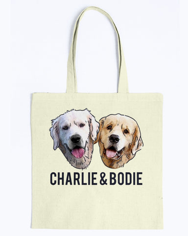 Charlie and Bodie Tote Bag-Kucicat