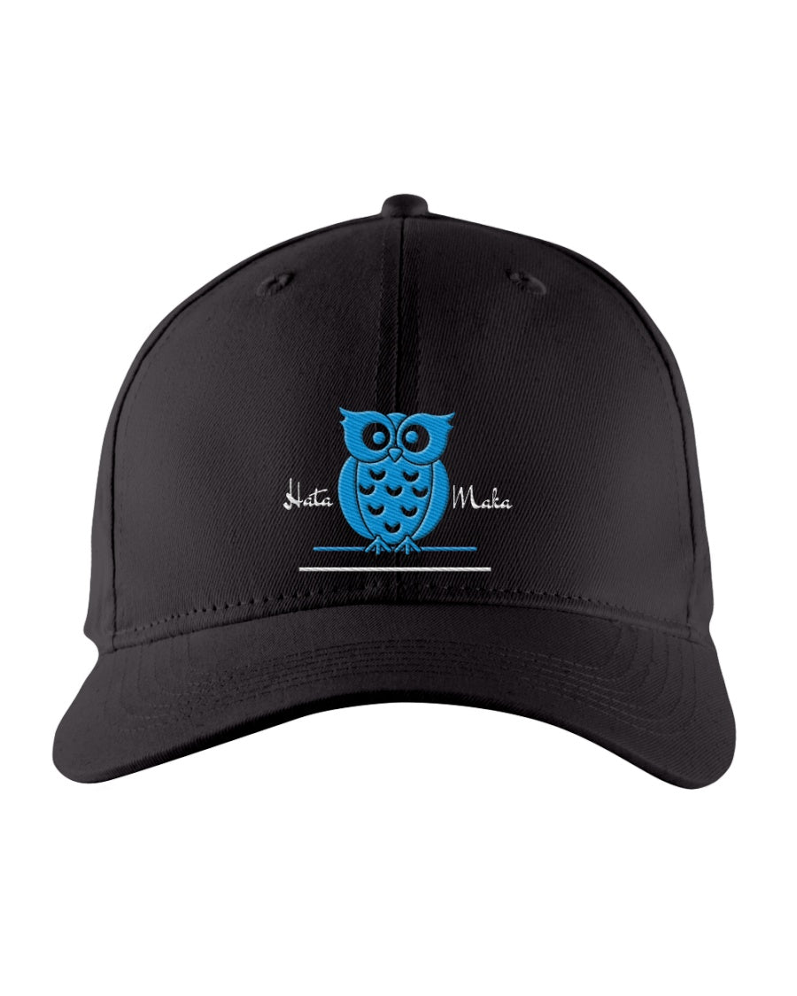 Hata Maka Blue Owl Official Black Snapback Trucker Cap