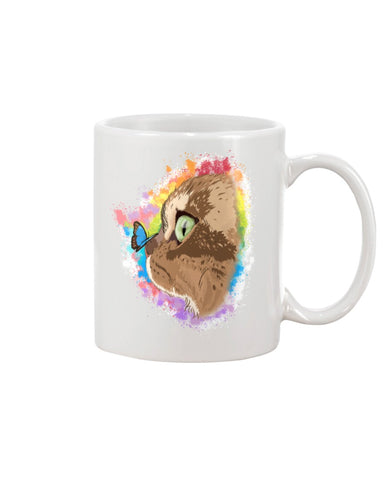 Farfor and Butterfly My Lulu Cat Official Mug 11oz