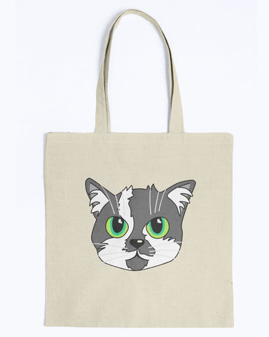 Scoot Butt Head Canvas Tote Bag-Kucicat