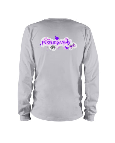 Purple Gaming Back Official Long Sleeve T-Shirt