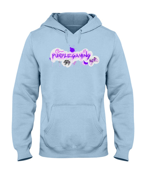 Purple Gaming Front Official Hoodie