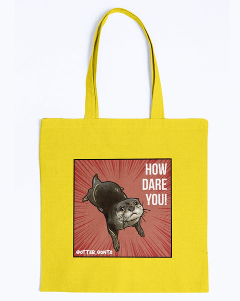 Grumpy Gonta - How Dare You! Canvas Tote Bag-Kucicat