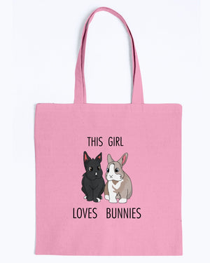 Tiffoco - This Girl Loves Bunnies Tote Bag-Kucicat