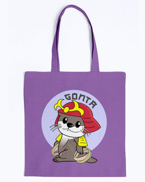 Gonta Otter Ring Master Canvas Tote Bag-Kucicat